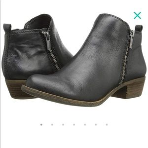 Lucky Brand black leather bootie NWOBox sz 8.5